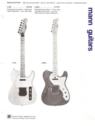 Mann Guitars 70s Catalog Page 3