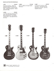 Mann Guitars 70s Catalog Page 4