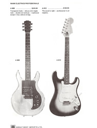 Mann Guitars 70s Catalog Page 6