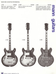 Mann Guitars 70s Catalog Page 7