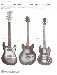 Mann Guitars 70s Catalog Page 8