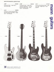 Mann Guitars 70s Catalog Page 9