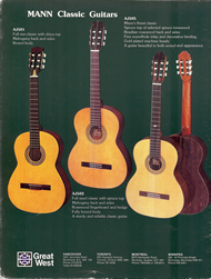 Mann Guitars 80s Catalog Page 12