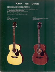 Mann Guitars 80s Catalog Page 2