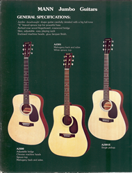 Mann Guitars 80s Catalog Page 4