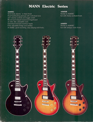 Mann Guitars 80s Catalog Page 8