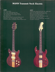 Mann Guitars 80s Catalog Page 9
