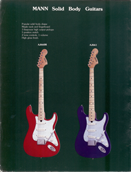 Mann Guitars 80s Catalog Page 10